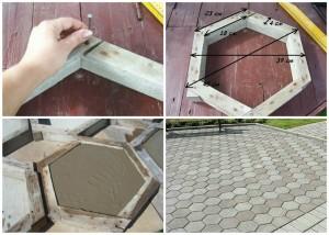 Форма для тротуарної плитки із дерева